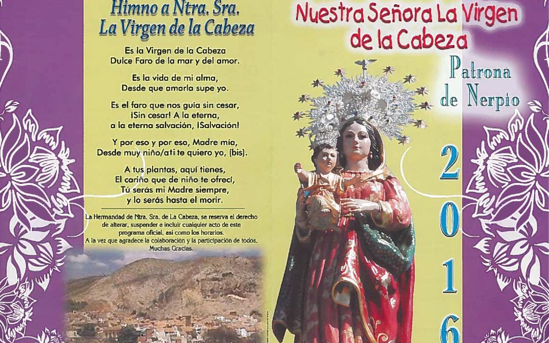 Fiestas Virgen de la Cabeza Nerpio 2016